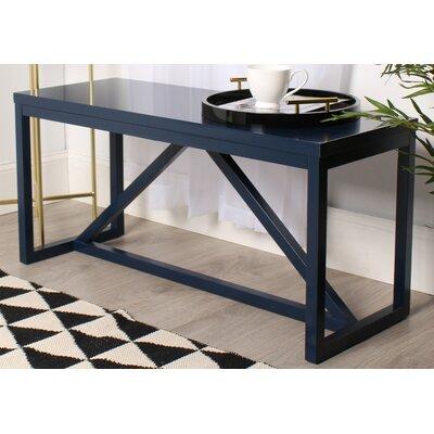 Dunstan Wood Bench Color: Navy Blue