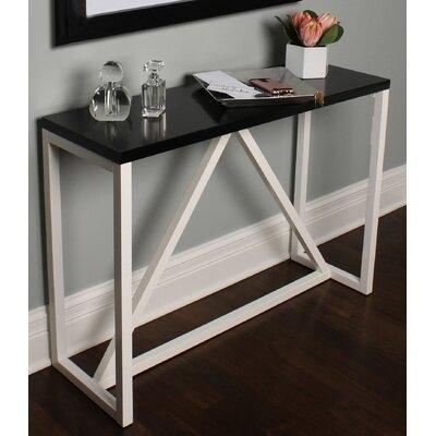 Dunstan Wood Console Table Color: Black/White