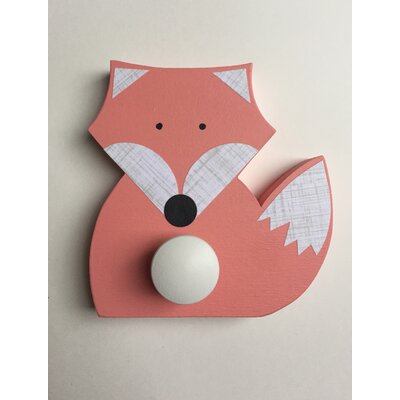 Fox Wall Hook Finish: Coral Pink