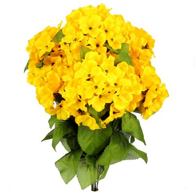 7 Stems Artificial Full Blooming Stain Hydrangea Color: Sunburst