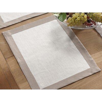 Blanc Cerise Délices De Lin 2 Piece Place Mat Set