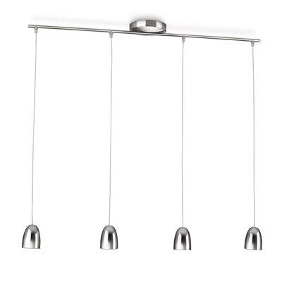 PhilipsLighting Höhenverstellbare LED-Pendelleuchte 4-flammig Wolga