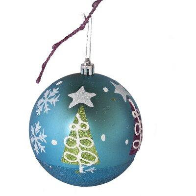 "3.9"" Shatterproof Handpainted Christmas Tree Ball Ornament Color: Light Blue"