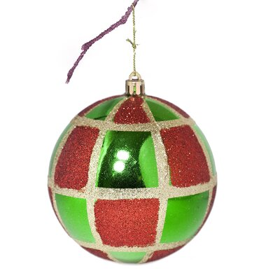 "3.9"" Shatterproof Handpainted Christmas Ball Ornament Color: Green"
