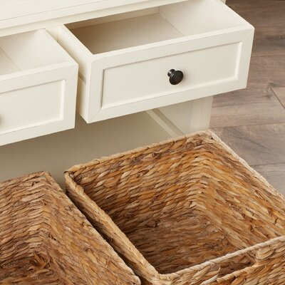 Ardina Wood Storage Bench Color: Ivory