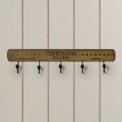 Scott Wood Fisherman's Ruler 5 Wall Hook