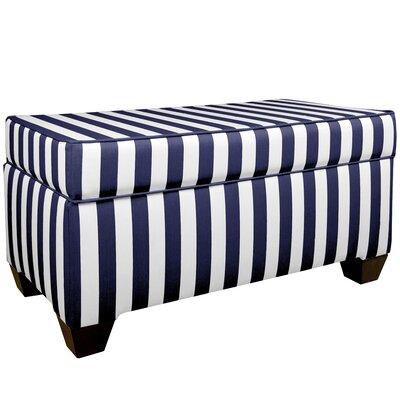 Adamsville Fabric Storage Bench Color: Blue / White