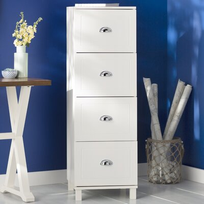 Orange City 4 Drawer Filing Cabinet Color: Antique White