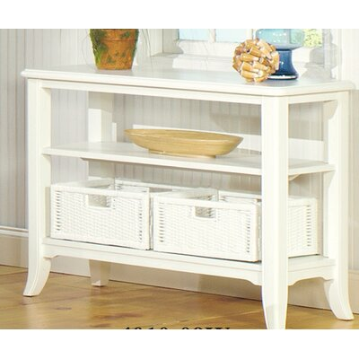 Kentmere Console Table Color: Antique White