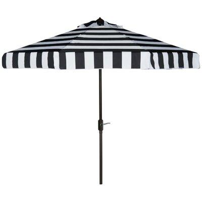 Seaport 9' Drape Umbrella Color: Black/White