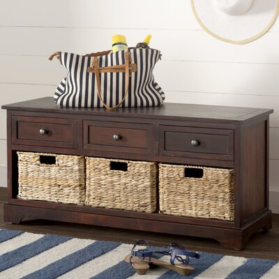 Ardina Wood Storage Bench Color: Mohogany