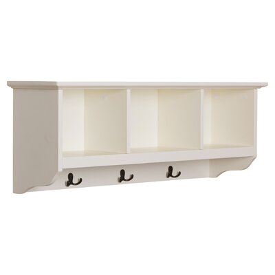 Douglas Entryway Wall Mounted Coat Rack Color: White