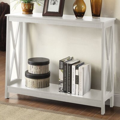 Stoneford Console Table Color: White