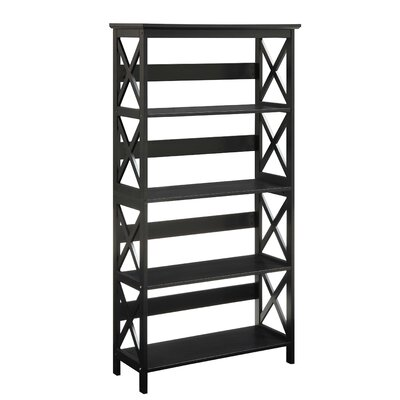 Stoneford Etagere Bookcase Size: 32.5'' H x 31.5'' W x 11.75'' D, Color: Cherry/Black