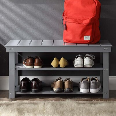 Stoneford Storage Bench Color: Gray