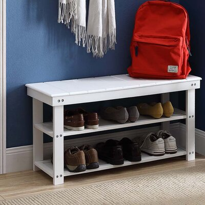 Stoneford Storage Bench Color: White