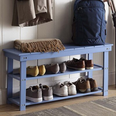 Stoneford Storage Bench Color: Blue