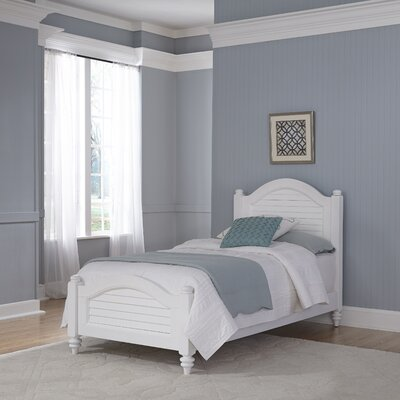 Harrison Twin Panel Bed Color: Brushed White