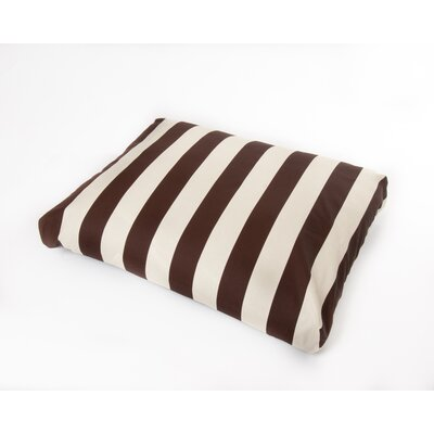 """Merrill Dog Pillow Color: Brown/Off-White, Size: Large (44"""" L x 36"""" W)"""