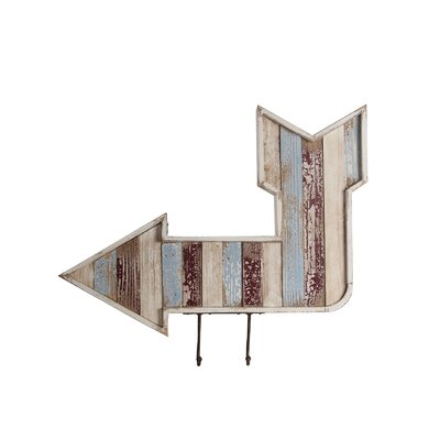 Hooks Wooden Wall Arrow