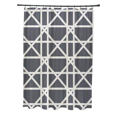 Osage Trellis Geometric Print Shower Curtain Color: Gray