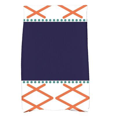 Bartow Knot Fancy Bath Towel Color: Orange/Navy Blue