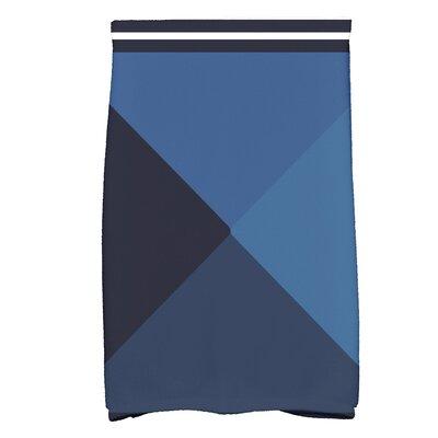 Bartow Nautical Angles Bath Towel Color: Navy Blue