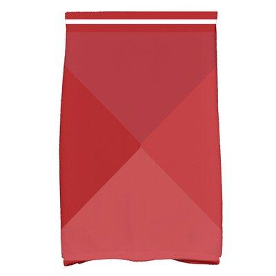 Bartow Nautical Angles Hand Towel Color: Red