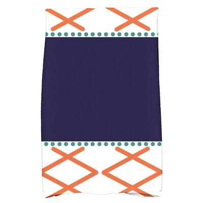 Bartow Knot Fancy Hand Towel Color: Orange/Navy Blue