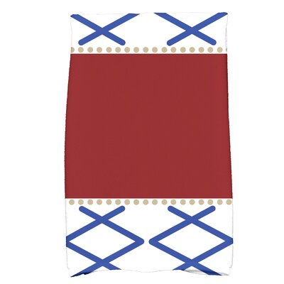 Bartow Knot Fancy Hand Towel Color: Red/Blue