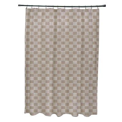 Layton Geometric Shower Curtain Color: Beige