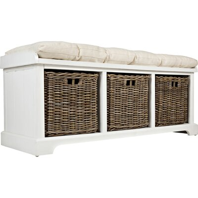 Quechee Wood Storage Bench Color: Chatham White