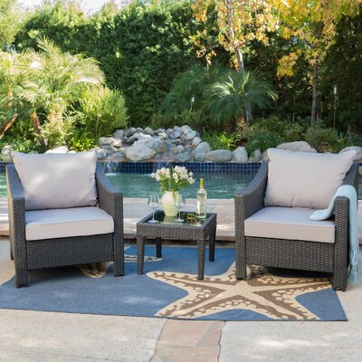 Summerland 4 Piece Conversation Set with Cushions