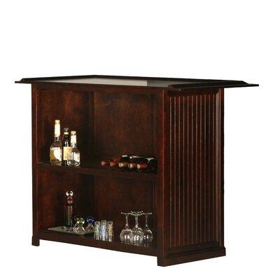 Meredith Bar with Wine Storage Door Type: None, Color: Autumn Sage