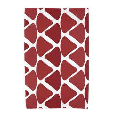 Watermelon Seeds Beach Towel Color: Red