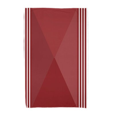 Nautical Angles Beach Towel Color: Red