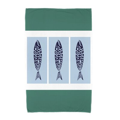 Fish Chips Beach Towel Color: Green