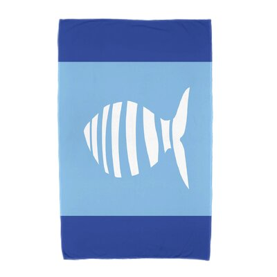 Puzzle Fish Beach Towel Color: Navy Blue