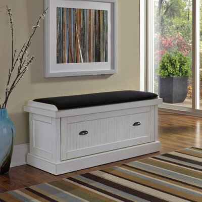Rabin Wood Storage Bench Color: Off-White