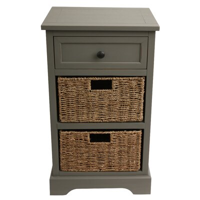 Ardina 3 Drawer Storage Chest Color: Antique Grey