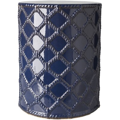 Winterview Garden Stool Color: Navy