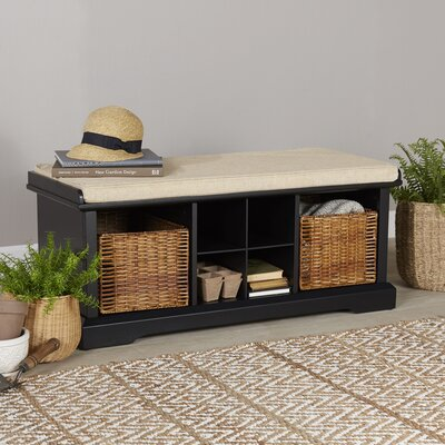 Wabasso Storage Bench Color: Black