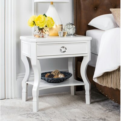 Rowe 1 Drawer Nightstand Color: White