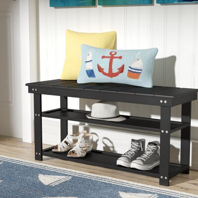 Stoneford Storage Bench Color: Black