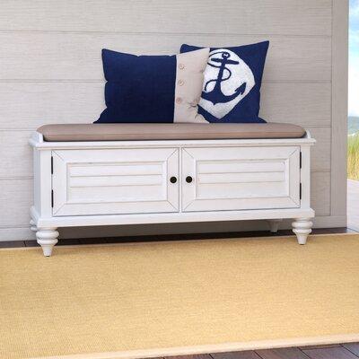 Harrison Wood Storage Bench Color: Bright White