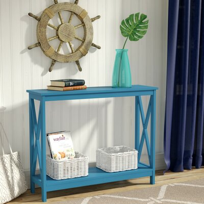 Stoneford Console Table Color: Blue