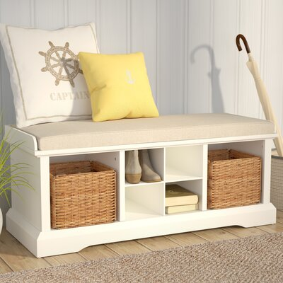 Wabasso Storage Bench Color: White