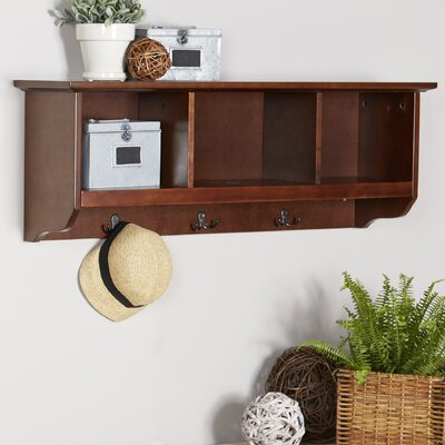 Douglas Entryway Wall Mounted Coat Rack Color: Mahogany