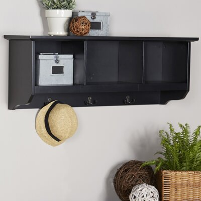 Douglas Entryway Wall Mounted Coat Rack Color: Black