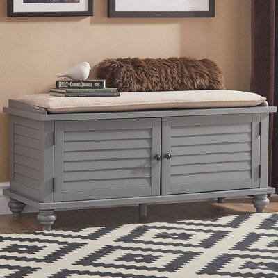 Indialantic Storage Bench Color: Frost Gray